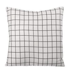 45 x 45cm Black Stripes Washable Throw Pillow Cover Cotton Linen Decorative Cushion for Sofa Car