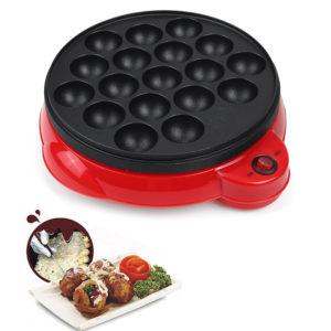 18 hål Elektrisk Takoyaki Octopus Ball Baking Machine Maruko Maker med grillpanna Professionella matlagningsverktyg