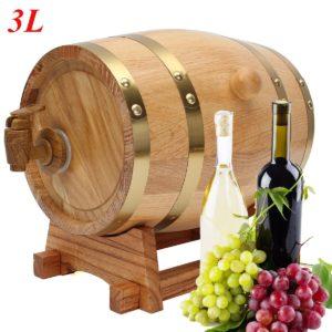 3L Trätunna med Spigot för Whiskey Wine Liquor Home Brew