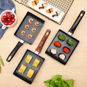 Japansk omelettpanna Tamagoyaki Egg Roll Style Non-Stick Fry Pan Cookware Maifanshi Coating Rökfri stekpanna