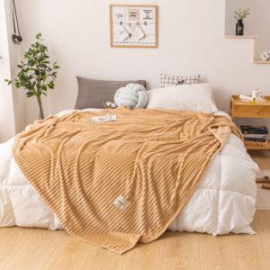 Cuddly Solid Soft Warm Flannel Throws Sofa Bed Blanket Flannel Rug