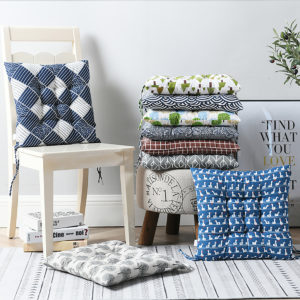 40x40cm Square Thick Seat Cushion Cotton Chair Cushion Breathable Soft Pad Office for Office Home Protection
