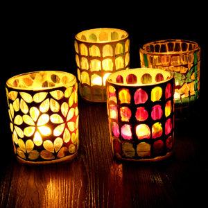 Glasljushållare Votive marockansk te ljus bordslampa ljusstake