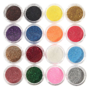 16 färger Eye Shadow Pigment Glitter Powder Spangle Set Nail Art Decoration DIY Bling Party Shimmer Makeup