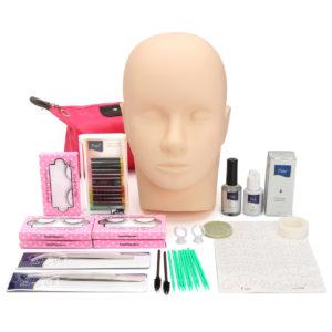 1 uppsättning ögonfransförlängningsverktygssats FALSKA ögonfransar Semi Permanent Make Up Individual False Lash Curl Lim Practice Graft Lashes Kit