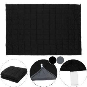 120x180CM Svartgrå vägd filt Bomull 7/9/11.5kg Heavy Sensory Relax filtar