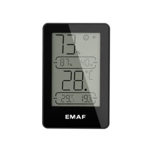 Digital Indoor Hygrometer Thermometer Temperature and Humidity Gauge 3 Level Icon Indicates for Indoor Outdoor Digital Hygrometer Thermometer