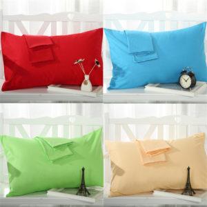 2 Pcs Cotton Cloth Pillow Case Covers Bed Pillowcase Standard Queen Size