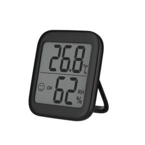 Digital termometer Hygrometer Exakt inomhus väggmonterad mätare med meddelandevarning LCD -display Digital temperaturfuktighetsmonitor