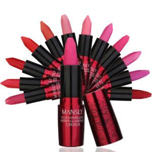 Beauty Party Makeup Lip Stick Bright Gem Series Lip Rouge Prom