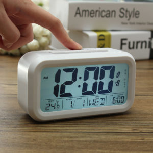 KING DO WAY Intelligent Display Alarm Clock LCD Large Display Night Lighting Digital Clock