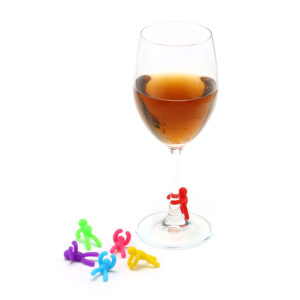 6 st Silikon Vin Charm Vinglas Cocktail Drycker Drickmaskin Bar Verktyg
