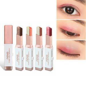 6 Färger Dubbelfärg Pärla Ögonskugga Penna Ögonskugga Stick Gradient Colors Makeup