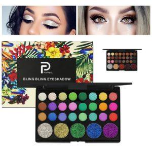 29 Colors Diamond Eye Shadow Palette Shimmer Matte Eye Cosmetic Long Lasting