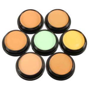 7 färger IMAGIC Makeup Foundation Powder Face Concealer Mineral Cosmetics Tool