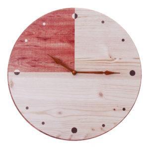 11'' Retro Round Wooden Wall Clock DIY Digital Round Room Home Office Bar Decor
