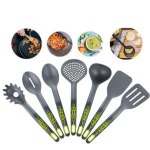 7 bitar Nylon Köksredskap Set Verktyg Turner Spatel Spoon Colander
