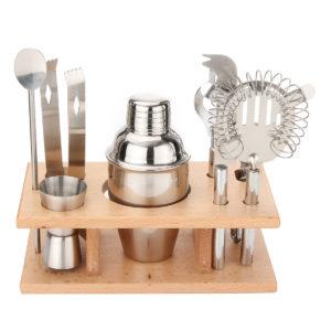 8st 250ml Rostfritt stål Cocktail Shaker Mixer Dryck Bartender Bar Tools Maker Set Kit