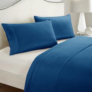 3/4 bitar Polyester sängkläder Set Rynka blekningsfärgbeständigt allergivänligt täckeöverdrag