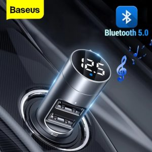 Baseus Energy Column Car Wireless MP3 Charger Bluetooth 5.0+5V3.1A + Baseus Energy Column Car Wireless MP3 Charger