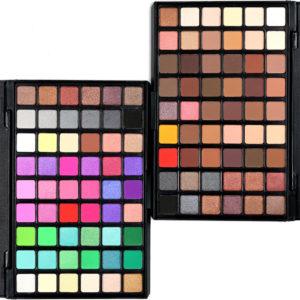 Popfeel 54 Colors Eyeshadow Palette Matte Shimmer Glitter Nude Pigmented Metallic Finish Eye Shadow