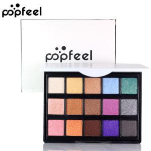 POPFEEL Mini 15 Color Eye Shadow Makeup High Gloss