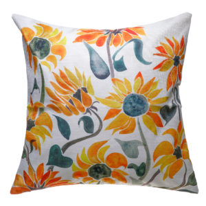 18x18inch Square Linen Sunflowers Cushion Pillow Case Protective Cover