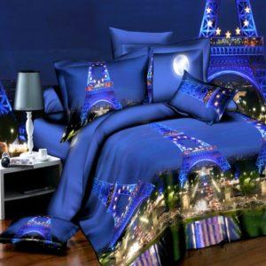 4PCS 3D Påslakan Quilt Cover Set Sängkläder Set Örngott Queen King Size Bed