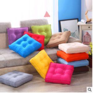 55x55cm Fyrkantig bomull Renhet Färg Mjuk kudde Soffa Stolar Sittdyna Seat Matstol Kuddar för heminredning