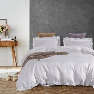 3PCS Supermjukt Polyester Sängkläder Satäng Faux Silke Påslakan Örngott För Hem Hotell