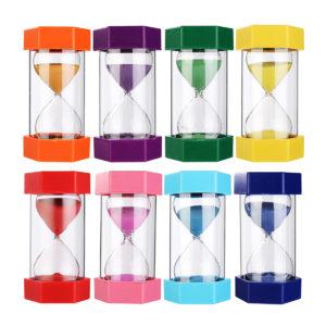 20min Sand Clock Timer Hexagonal Autism Hourglass Sandglass Home Office Decor 8 Colors