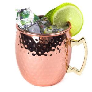 530 ml 18oz kaffemugg Cocktail koppar kopp kopp dricka hamrad koppar mässing stål kopp