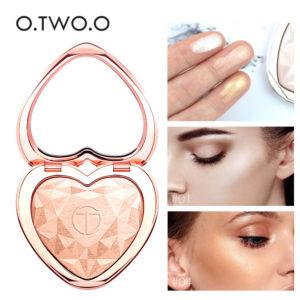 Glow Kit Highlighter Makeup Shimmer Face Body Heart Highlighter Blush Palette Illuminator Highlight Contour Golden Bronzer