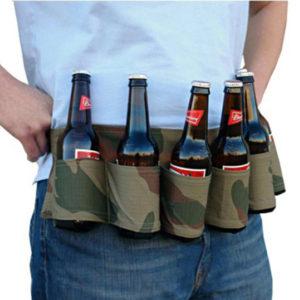 6 -pack öl soda -bälte drycker ölbälteshållare flaskhållare för utomhuscampingfest
