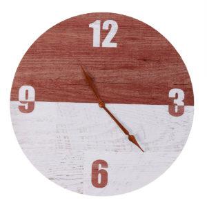 11'' DIY Digital Wood Wall Clock Diameter 28CM Seamless Hook For Home Office Bar