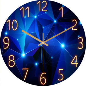 12 tum mode glas kvarts klocka hem levande tyst tyst enkel klocka