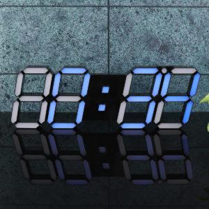 39132.2cm 3D Digital LED Väggklocka Väckarklocka Temperatur Modern USB -fjärrkontroll