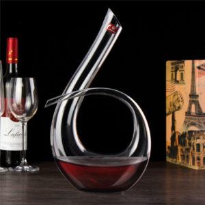 1200 ml Crystal Glass Alkohol Decanter Liquid Carafe Aerator Pourer