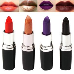 4 färger svart läppstift Överdriven färg läppsminkfest