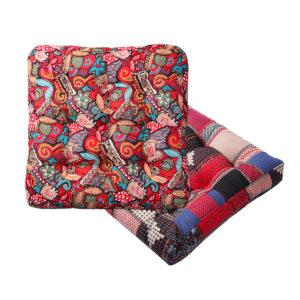 55x55x10cm Square Tatami Cushion Cotton Linen Floor Pillow Chair Seat Pad Mat