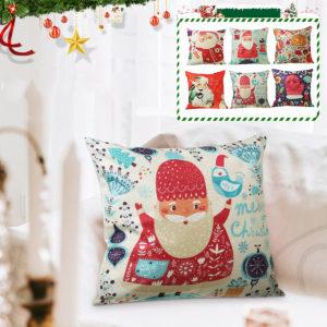 45*45cm Christmas Cushion Cover Decorative Sofa Pillow Cover Case Seat Car Home Decor Throw Pillowcase for Home 2020 Christmas Decoration
