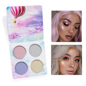 4 Colors Highlight Shimmer Glitter Eye Shadow Palette