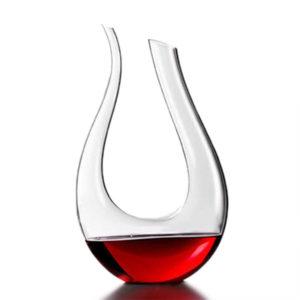 1200ml Lyxigt U-format kristallglas U-format vin Vinkaraffär Vinhällare Rödvinkaraffluftare