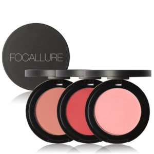 FOCALLURE Cheek Blusher Powder Blush Skönhetsmakeup Soft Nature Rouge Glossy Face Blush