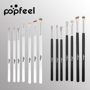 POPFEEL 7Pcs Makeup Brush With Wooden