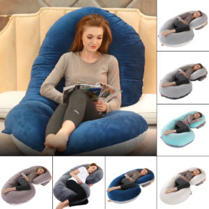 140 x 70cm Full Body U Shape Pillow Soft Breathable Sleeping Support Pillow for Side Sleepers