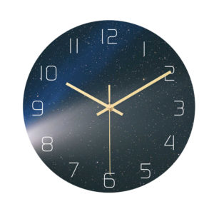 CC024 Creative Starry Pattern Wall Clock Mute Wall Clock Quartz Wall Clock For Home Office Decorations