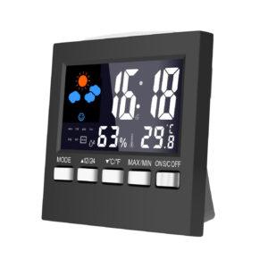 DC-001 Digital Temperature Humidity Alarm Clocks LCD Weather Station Display Clock