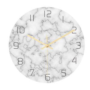 CC014 Creative Marble Pattern Wall Clock Mute Wall Clock Quartz Wall Clock For Home Office Decorations