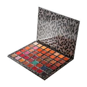 48 Color Eye Shadow Leopard Box Pearly Matte Multicolor Eyeshadow